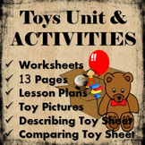 Toys from the Past Unit work and ideas