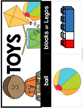 Toys Vocabulary Activities for Beginning ELLs