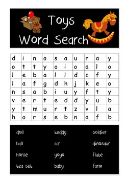 Toys Word Search