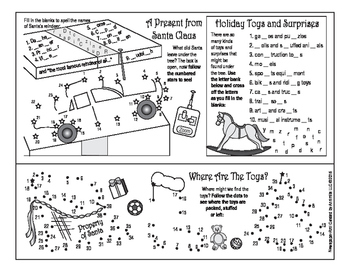 Toys and Joys of Christmas Two-Page Activity Set
