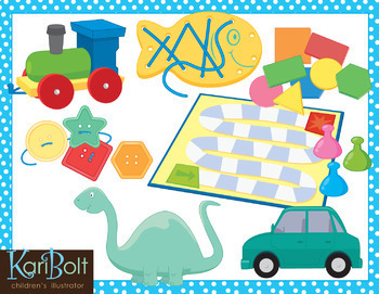 Toys and Manipulatives Clip Art