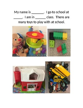 Toys at school stay at school Social Skills Story