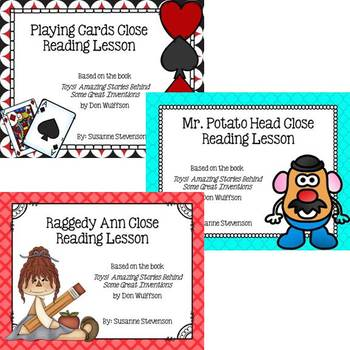 Toys! by Don Wulffson - Close Reading Bundle