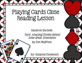 Toys! by Don Wulffson - Playing Cards Close Reading