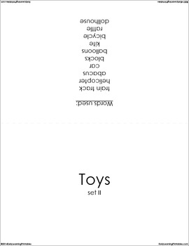 Toys (set II) Picture Flashcards
