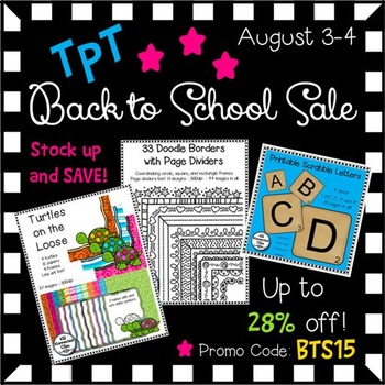TpT Back to School '15 Sale!