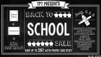 TpT Back to School Sale Button FREEBIE {Appleslices}