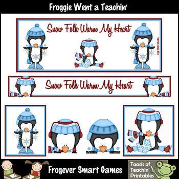 TpT Banners-Facebook Cover Bundle--Snow Folk Warm My Heart (Editable)