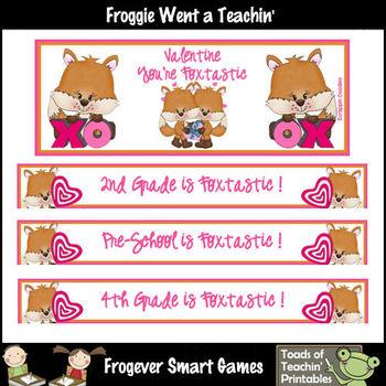 TpT Banners-Facebook Covers Mega Bundle--Foxtastic Valentines (Editable)