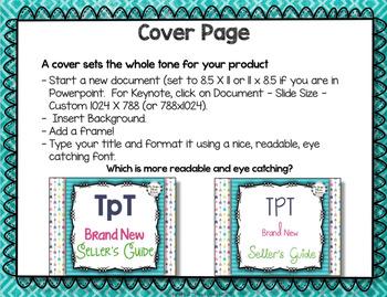 TpT Brand New Seller's Guide