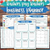 TpT Business Planner  Product Planner & Organizer