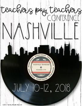 TpT Conference Binder 2018 {Nashville}