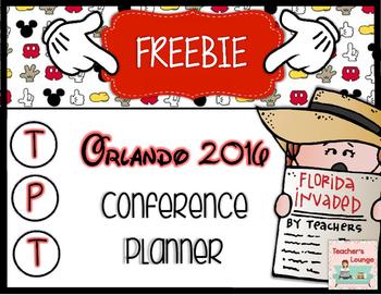 TpT Conference Planner - Orlando 2016 FREEBIE