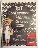 TpT Conference Planner - Spiral Bound