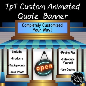 TpT Custom Personal Quote Banner-Animated
