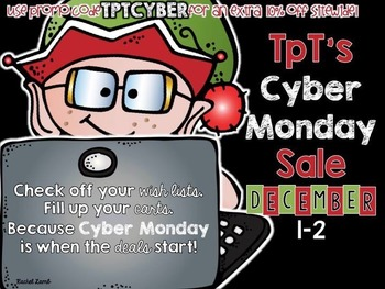 TpT Cyber Monday Sale button for your blog