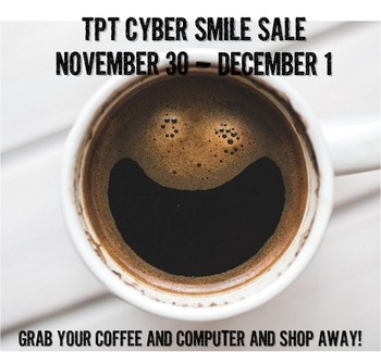 TpT Cyber Smile Sale Banner for 2015