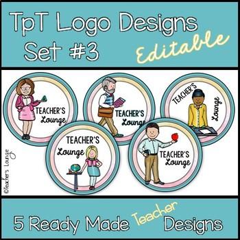 TpT Logo Designs EDITABLE Set #3