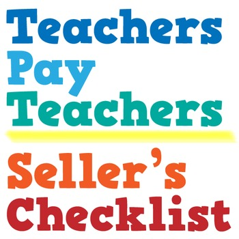 TpT Materials Checklist