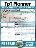 FREEBIE TpT Planner & Social Media Organizer