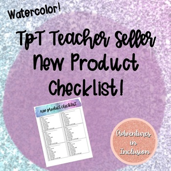 TpT New Product Checklist