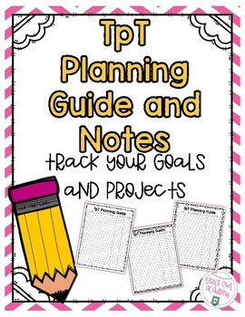 TpT Planning Guide and Note Taking Sheet