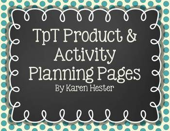 TpT Product & Activity Planning Pages