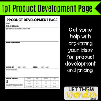 TpT Product Development Page