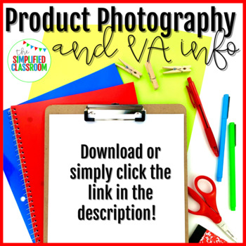 TpT Product Photography Service - FREE Information