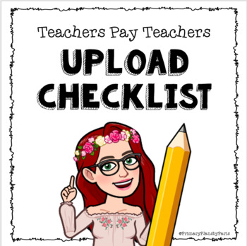 TpT Product Upload Checklist