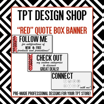 ANIMATED Quote Box Banner (RED)