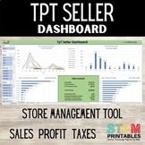 TpT Seller Dashboard | Product Sales Analysis EXCEL Dashboard