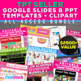 TpT Seller Distance Learning Google Slides Templates + Cli