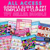 TpT Seller Distance Learning Google Slides Templates + Cli