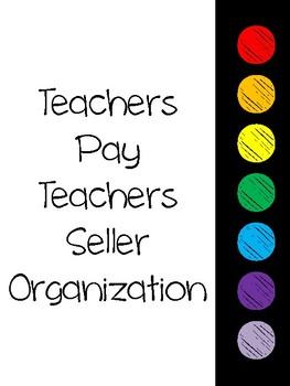 TPT Seller Organization Binder and Planner