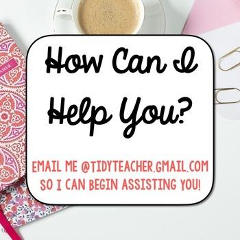 Tidy Teacher TpT Store Assistant!