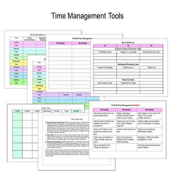 TpT Seller Progress Planner {Fully EDITABLE}