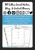 TpT Seller Social Media, Blog, and Content Planner