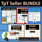 TpT Seller Starter Template and Border Bundle