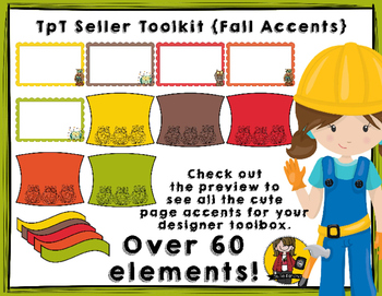 TpT Seller Toolkit {Fall Accents}