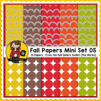 TpT Seller Toolkit {Fall Paper Mini Set 05}
