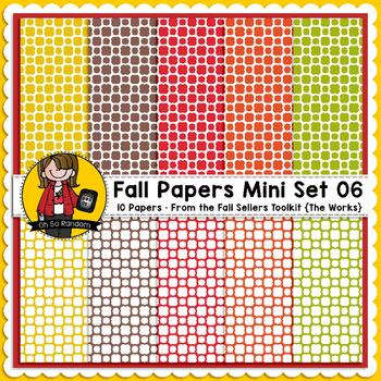 TpT Seller Toolkit {Fall Paper Mini Set 06}