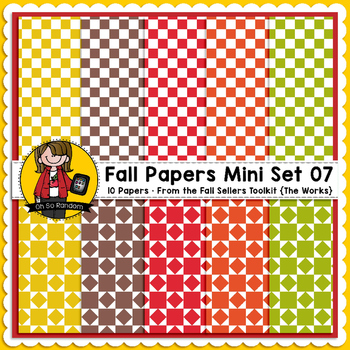 TpT Seller Toolkit {Fall Paper Mini Set 07}