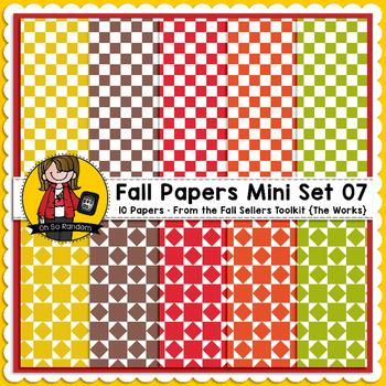 TpT Seller Toolkit {Fall Paper Mini Set 07}