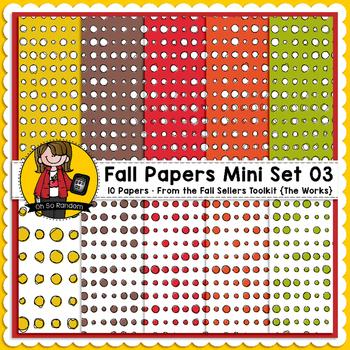 TpT Seller Toolkit {Fall Paper Mini Set 03}