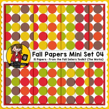 TpT Seller Toolkit {Fall Paper Mini Set 04}