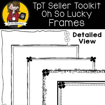 TpT Seller Toolkit {Saint Patrick's Borders}