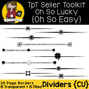 TpT Seller Toolkit {Saint Patrick's Dividers}