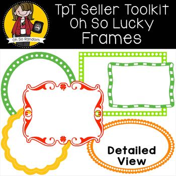 TpT Seller Toolkit {Saint Patrick's Frames}