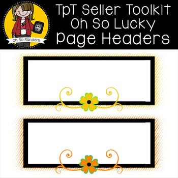 TpT Seller Toolkit {Saint Patrick's Headers}